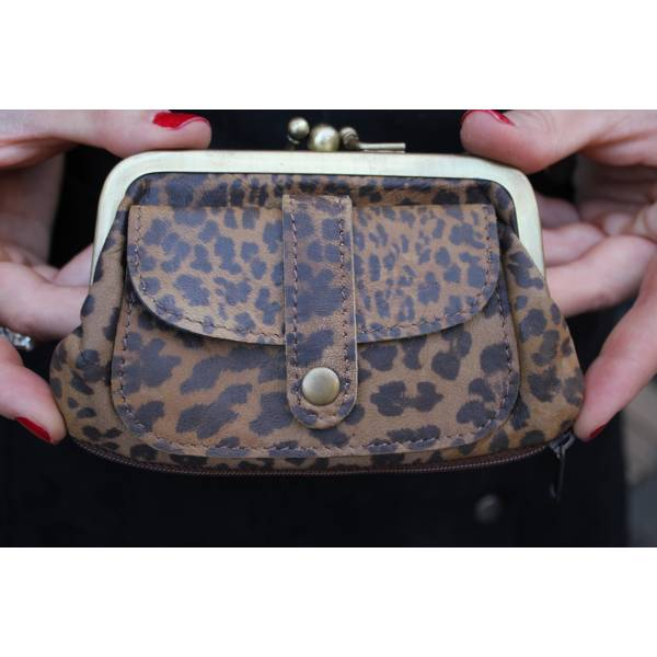 Amy purse -  leopard print
