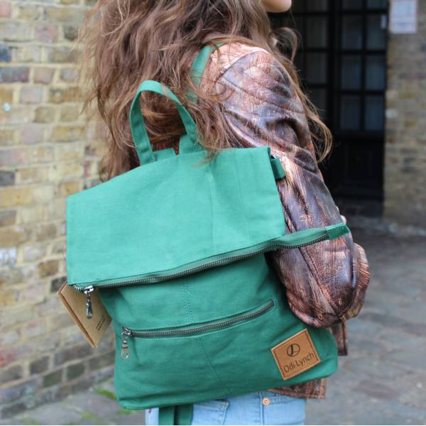 Amelie Green Multiway Backpack Vegan