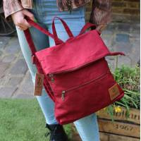 Amelie Dark Red Multiway Backpack Vegan