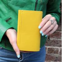 Yellow Wallet Leather