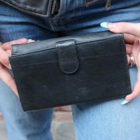 Travel Wallet Black Leather