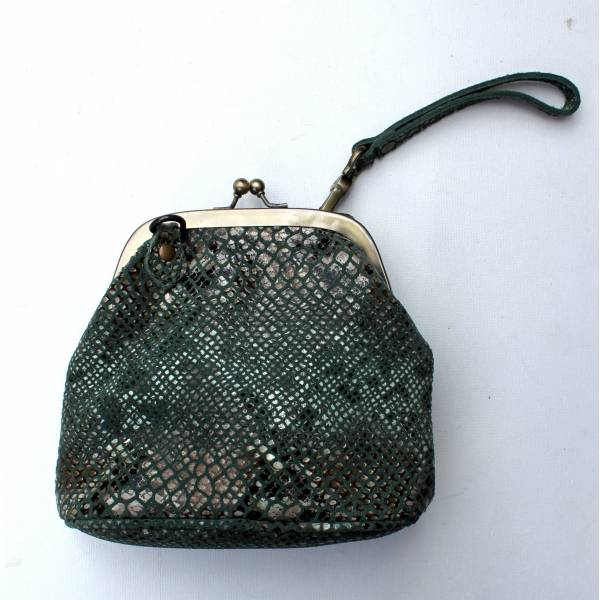 Evanna Clip Bag With Floor Floor Blue Snake Print