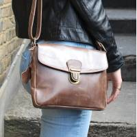 Louisa Cross-Body Brown Leather