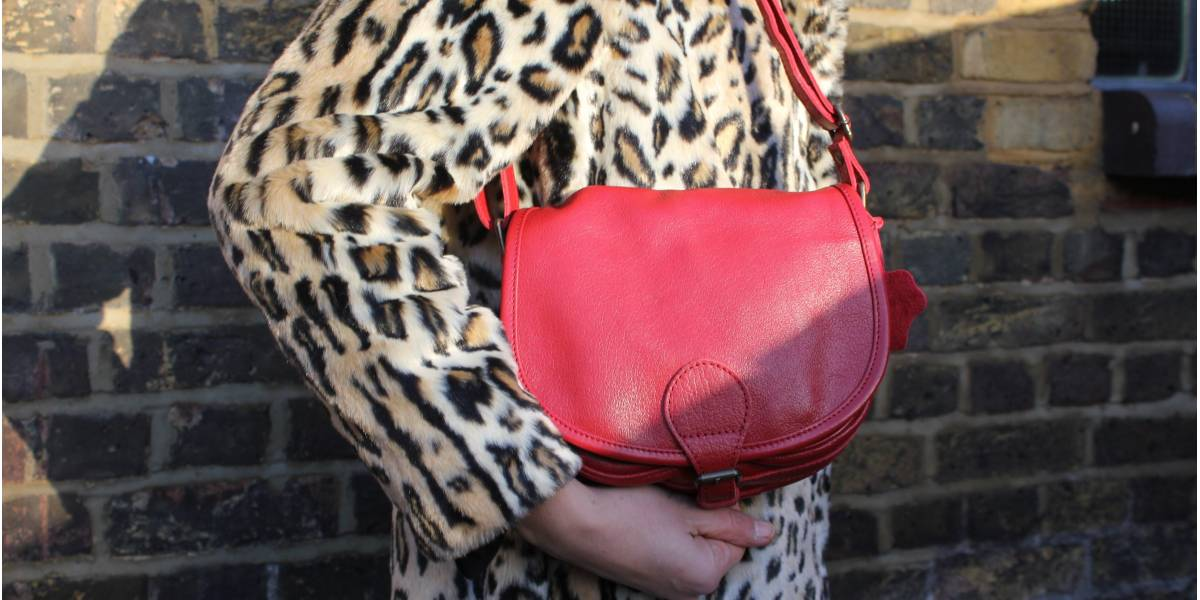 Isabelle Red Leather Small Saddle Bag
