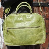 Tote Apple Green Leather