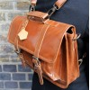 Karine Medium Tan Smooth Satchel Leather convertible to backpack