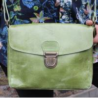 Louisa Satchel Apple Green Messenger Bag
