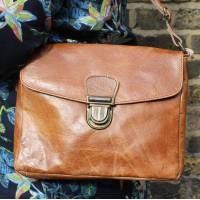 Tan Smooth Messenger Bag