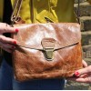 Louisa Cross-Body Pushthrough Tan Leather