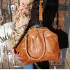 Frame Bag Tan Scrunchy Leather
