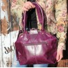 Lucy Frame Bag Purple Leather