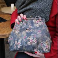Maya Medium Floral n21 Leather Clip Bag