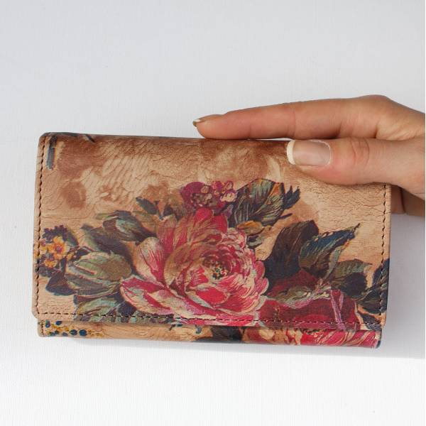 Floral 14 Leather Wallet