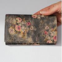 Madamzel Vintage Floral Leather Wallet