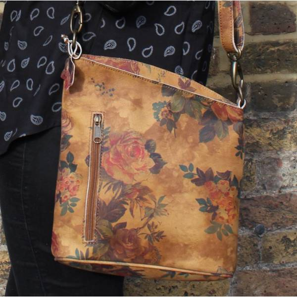 Floral 14 Leather Bag