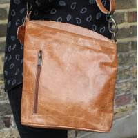 Tan Scrunchy Leather Bag