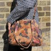 Medium Floral Leather Clip Bag