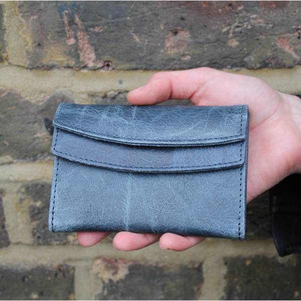 Meirn Navy Blue Leather Wallet