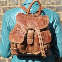 Rucksack Small Tan Leather