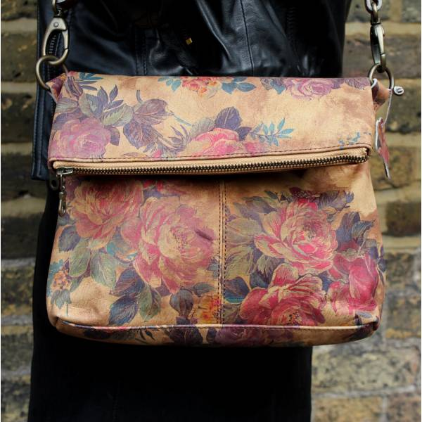 Mini Amelie Bag Foldover Floral 14 Leather