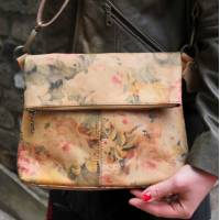 Mini Amelie Foldover Floral Leather Bag