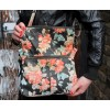 Foldover Spanish Floral Leather Bag