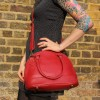 Nora Tote Bag Red Leather