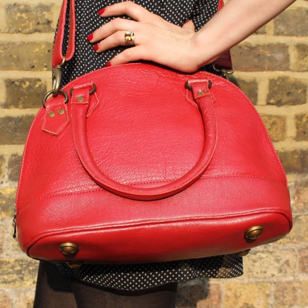 Nora Red Leather
