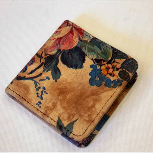Coin holder Floral Leather No 14
