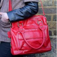 Pamela Tote Bag Red Leather