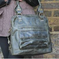 Pamela Tote Bag Olive Leather