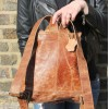 Rucksack Large Tan Scrunchy Leather