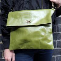 Russian Foldover Apple Green Leather