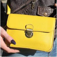Scottish Bumbag and Minibag Yellow with separate belt
