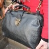 Doctor Bag Medium Black Leather