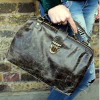 Doctor Bag Medium Charcoal grey Leather