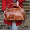 Doctor Bag Medium Tan Scrunchy Leather