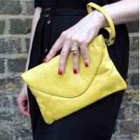 Sligo Clutch Yellow Leather
