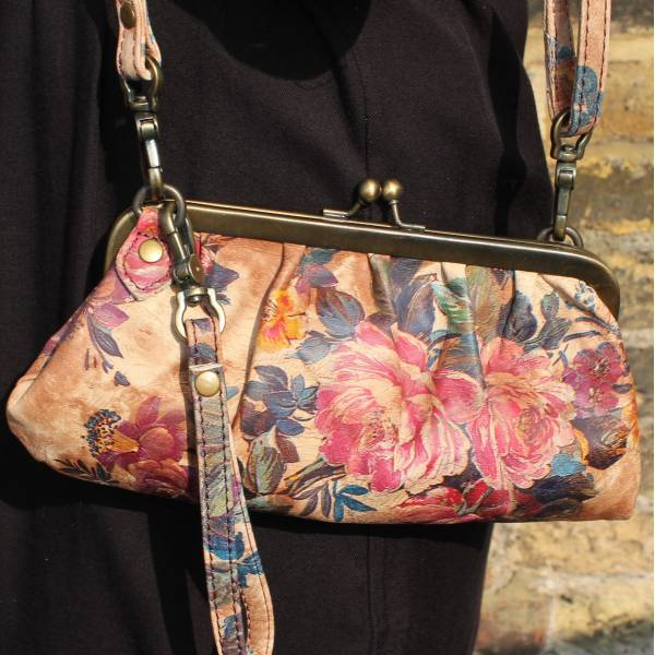 Superclutch Autumn Floral Clip Bag