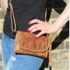 Theatre Convertible Clutch Bag Distressed Tan Leather