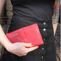 Travel Red Leather Wallet