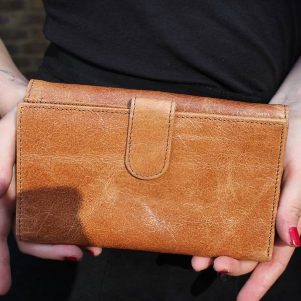 Travel Wallet Tan Leather