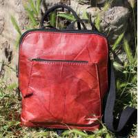 Vegan Teakleaf Backpack Red