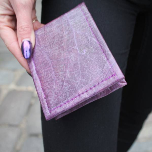 Wallet Bifold Vegan Purple