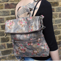 Ruckbag Floral Leather Bag