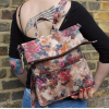 Amelie Convertible Rucksack to Messenger Zipped Summer Garden Floral Leather Bag