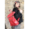 Belgian Red Convertible Clip Backpack