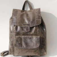 Rucksack Charcoal Leather
