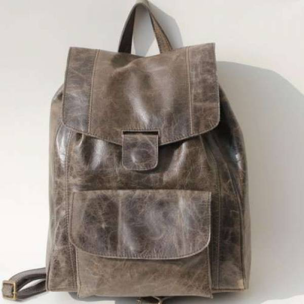 Coolruck Rucksack Charcoal Leather