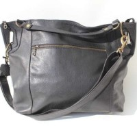 Tote Black Waxy Leather